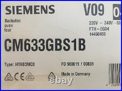 New Siemens CM633GBS1B iQ700 Built In Compact Single Oven with Microwave + Grill