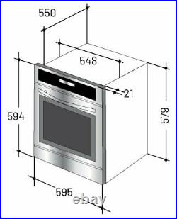 New World NWCMBOBP Built In Single Electric Oven Black