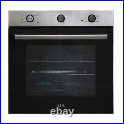 SIA FSO10SS 60cm Stainless Steel Built-in 6 Function Electric Single Fan Oven