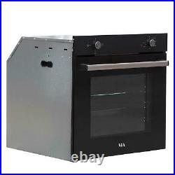 SIA SSO10BL 60cm Black Built In Multi Function Electric Single Oven 75L Capacity