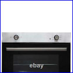 SIA SSO10SS 60cm Stainless Steel Built In Multi Function Electric Single Oven