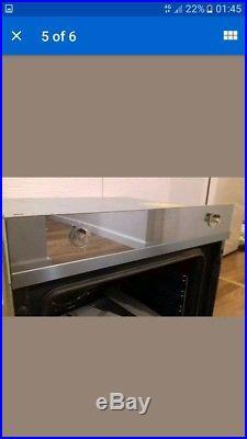 SMEG SFP109S Linea Pyrolitic Multifunction Silver Glass Single Oven