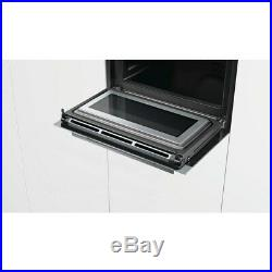 Siemens CM633GBS1B iQ700 Built In Compact Electric Single Oven with Microwave Fu