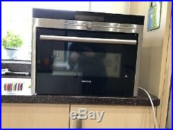 Siemens HB86P575B Built In Compact Electric Single Oven with Microwave