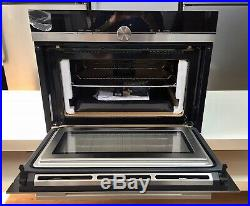 Siemens IQ-700 CM676GBS6B Built In Compact Electric Single Oven with Microwave