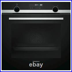Siemens iQ500 HB578A0S0B Single Built In Electric Oven, Black