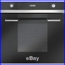 Smeg SF109N Linea Multifunction Electric Built In Single Maxi Oven Blac SF109N