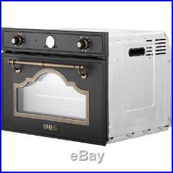 Smeg SF4750VCPO Cortina Built In 60cm Single Cavity Steam Oven Cream / Brass