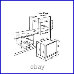 Smeg SF6400TVS Cucina 60cm Multifuction Single Oven Silver Glass
