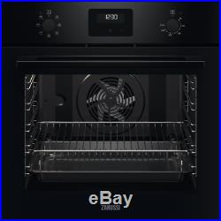 Zanussi ZOHNX3K1 Built In 59cm A Electric Single Oven Black New