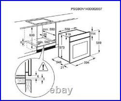 Zanussi ZOP37982XK Built-In Single Electric Oven pyro clean S/Steel HW174044