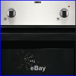Zanussi ZPVF4130X Single Oven & Ceramic Hob Built In Stainless Steel / Black
