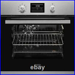 Zanussi ZZP35901XK Built In Electric Single Oven with Pyrolytic Self Cleaning